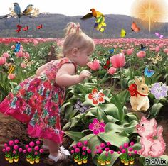 The perfect Girl Flowers Butterflies Animated GIF for your conversation. Discover and Share the best GIFs on Tenor. Gif Pictures, Cute Pictures, Beautiful Pictures, Beautiful Gif, Beautiful Flowers, Gif Bonito, Beau Gif, Butterfly Kids, Flowers Gif
