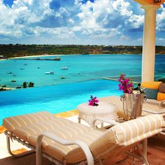 #Spyglass Hill villa is perched on The Valley #Anguilla overlooking Road Bay harbor and offers stunning views of the Caribbean