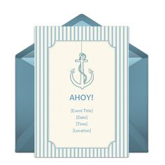 Customizable, free Nautical online invitations. Easy to personalize and send for a party. #punchbowl