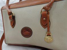 Vintage LARGE Dooney & Bourke Handbag Satchel/ White Purse/ White Handbag - Wonderful Condition on Etsy, $157.99