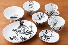 Tove Jansson, Moomin Valley, Little My, Box Design, Finland, Decorative Plates, Ceramics, Tableware, Kitchen