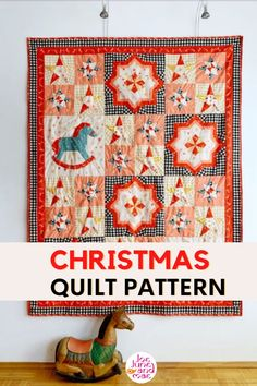 Looking for a Christmas patchwork ideas? Check out this new quilt for Christmas project. This is a perfect Christmas gift ideas for your family and friends! Christmas Patchwork, Christmas Quilt Patterns, Christmas Sewing, Christmas Projects, Beginner Quilt Patterns, Quilt Block Patterns, Pattern Blocks, Quilt Blocks, Modern Christmas