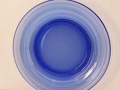 Vintage Hazel Atlas Glass Ritz Blue Salad Plate by GarageSaleGlass, $9.99