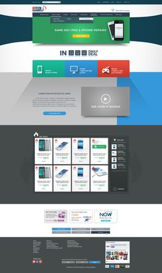 Modern Responsive Design for Hitech Mobiles Website by S. | A. | R.