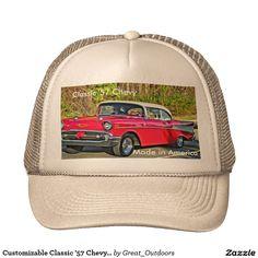 Customizable Classic '57 Chevy Cap