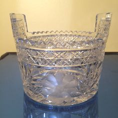 Antique American Brilliant Era Cut Glass Ice Bucket