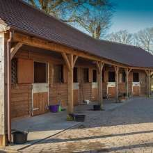 Timber frame wooden stable
