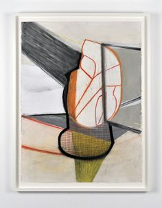 Amy Sillman A Shape that Stands Up and Listens #1, 2012  Ink, gouache, pencil, chalk, characoal on paper  76.2 x 60 cm / 30 x 22 inches Campoli Presti, Paris