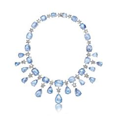 Verdura | moonstone, diamond and white gold, | NECKLACES | GEMSTONE | Stardust Necklace