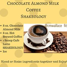 My go to Cafe Latte Shakeology recipe. Get coffee and breakfast in one drink!
