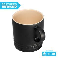 Have stylish coffee/tea breaks with this enamel-glazed ceramic stoneware Le Creuset Espresso Mug Satin Black! Enjoy fast shipping and money back guarantee only here. Le Creuset Mugs, Le Creuset Stoneware, Stoneware Mugs, Kitchenaid Artisan Mixer, Gadgets, Kitchenware, Tableware, Knife Block Set, Glazed Ceramic