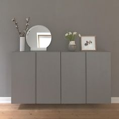 Ikea Ivar Cabinet, Ikea Cabinets, Ivar Ikea Hack, One Room Flat, Ikea Units, Flur Design, Scandinavian Bedroom, Apartment Design, Room Colors
