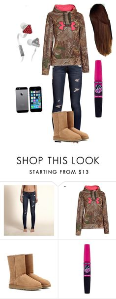 """""""Today's just one of those days...."""" by laf23 ❤ liked on Polyvore featuring Hollister Co., Under Armour, UGG Australia, Maybelline, Samsung and Beats by Dr. Dre"""
