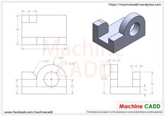 3D CAD Exercises – Machine CADD Isometric Drawing Exercises, Architecture Portfolio, Architecture Diagrams, Cad Programs, Cad Software, Cad Cam, Geometric Drawing, Site Plans, Cad Drawing