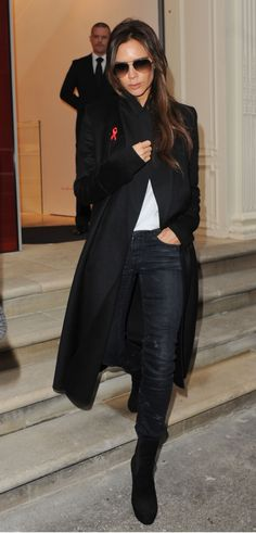 Victoria Beckham in R13 Skinny in Black Marble : Celebrities in ...