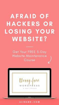Worry-Free WordPress Course