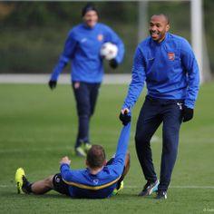 Henry Enjoys Training with Arsenal.