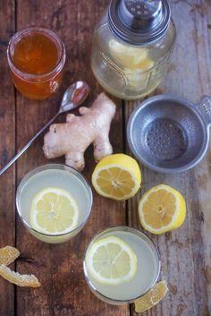 Ginger-Infused Honey Lemonade #boozy #lemonade #cocktail
