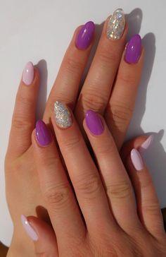 Viola (lilla) lilla pastello argento glitter polvere