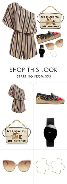 """""""Playsuit"""" by cherieaustin ❤ liked on Polyvore featuring Alexander McQueen, Tory Burch, Rado, Linda Farrow and Simone Rocha"""