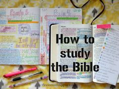 Tips for how to study the Bible using Bible color coding. #dailyBibleStudy