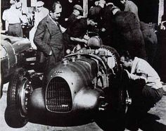GP Masaryk (Brno) -1934 , Auto Union A #10 of Hans Stuck (Race Winner) with Dr. Porsche