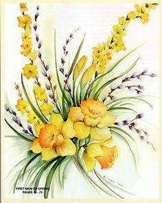 589 Enjoy Painting Fresh Florals by Susan Scheewe Brown Watercolor & Acrylic