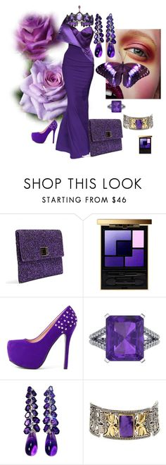 """""""Purple"""" by mkdetail ❤ liked on Polyvore featuring Alexis Mabille, Anya Hindmarch, Yves Saint Laurent, Ferrucci and Konstantino"""