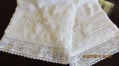 Gift New Baby Clothing Baptism Christening Towel Handmade Filet Crochet Cross