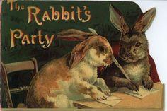 Rabbit's party, Victorian scrap