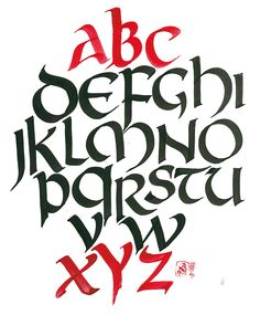 Weekly Alphabet #2. Uncial Hand | Anna Kogan's artwork diary