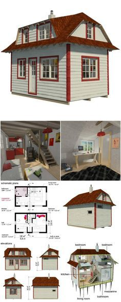 Amazing Shed Plans - Barbara tiny house plans by ester - Now You Can Build ANY Shed In A Weekend Even If You've Zero Woodworking Experience! Start building amazing sheds the easier way with a collection of shed plans! Tiny House Cabin, Tiny House Living, Tiny House Design, Small House Plans, House Floor Plans, Shed House Plans, Shed To Tiny House, Micro House Plans, Small Living