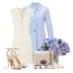 """""""Easter Sunday Style"""" by kginger ❤ liked on Polyvore featuring John Lewis, Tory Burch, Distinctive Designs, Aquazzura, Lanvin and Buccellati"""