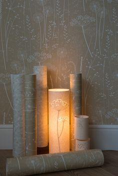 Paper Meadow Wallpaper Kraft от Hannahnunn на Etsy
