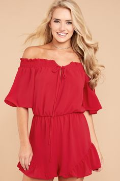 At Red Dress Boutique, we have rompers and playsuits in stock for every season or occasion. Shop our full collection of seasonal rompers ✓Shop the Look Playsuits, Off The Shoulder, Modeling, Girls Dresses, Dressing, Rompers, Shopping, Collection, Style