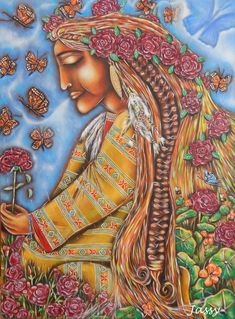 pachamama...goddess of the Andes mountains...known as the earth/time mother...she causes earthquakes and is typically in the form of a dragon...the goddess of the harvest..her children are, Inti, the sun god, and, Killa, a moon goddess..