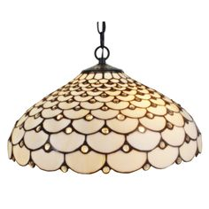 Amora Lighting Tiffany Style Jeweled 2-light Hanging Lamp
