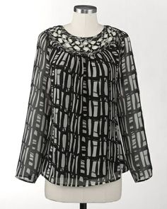 Night and day blouse | Coldwater Creek - flattering and easy to dress up or down
