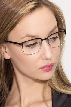 Black Silver Browline Prescription Eyeglasses-Medium Full-Rim Metal Eyewear-Manchester