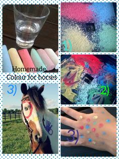 Homemade facecolours for people and animals🐎🐱🐴🐾♻