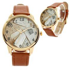 "Unisex Watch for Men and Women. ""POST MAIL LETTERS"" Watch. Unusual Design Style Watch. Wristwatch. Wrist watch"