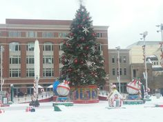Its beginning to look a lot like Christmas. Sundance Square downtown Fort Worth, Tx. December 6, 2013