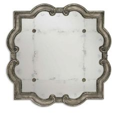 Mirrors - Silver Leaf & Rosette Antiqued Mirror