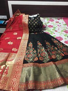 a5acc72243e74 BROCADE BANARASI SILK DESIGNER INDIAN LEHENGA CHOLI WEDDING BRIDAL LENGHA  BA1  fashion  clothing
