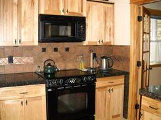 Kitchen Backsplash Hickory Cabinets what granite choice with natural hickory cabinets? - kitchens