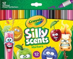 Crayola Silly Scents Chisel Tip Markers Pack - 12 Piece