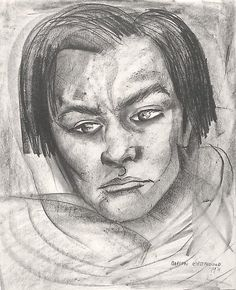 Marion Greenwood - NAVAJO INDIAN, 1931, Crayon and graphite