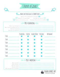 FREE 2015 Goal Worksheet for your goal success! Have you set your goals yet for If you have, have you stuck to them? My 2015 goal planning worksheet can help you! Set some SMART goals Specific: Is this a well defined,. The Plan, How To Plan, Goals Planner, Planner Pages, Budget Planner, Planner Template, Printable Planner, Printables, Goals Printable