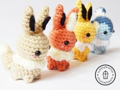 Amigurumi Eevee  Eevee Plush  Pokemon Amigurumi  by BubblyTeaShop