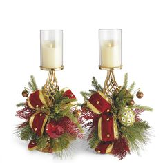 Under the Mistletoe Candle Holders, Set of Two